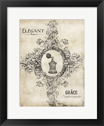 Framed Elegant Beaute Print