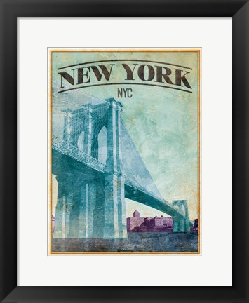 Framed New York Cover Print