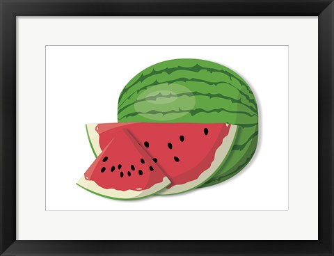 Framed Watermelons Print