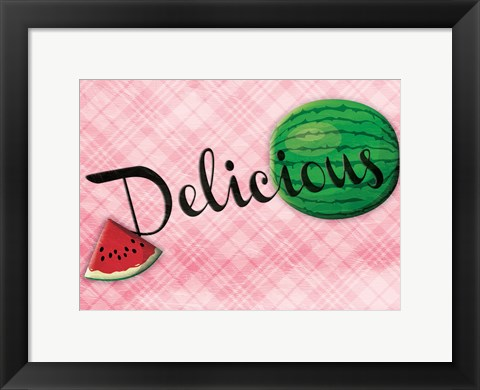 Framed Delicious Watermelons - Pink Print