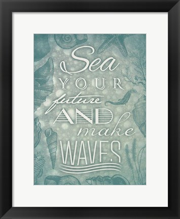 Framed Waves Print