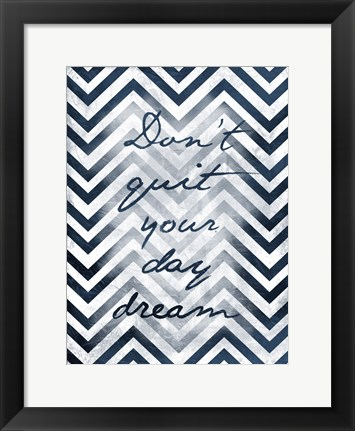 Framed Don't Quit - Chevron Stripes Print