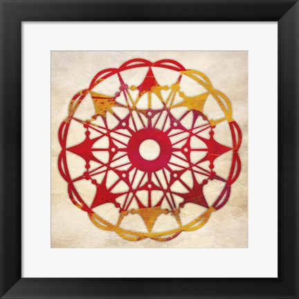 Framed Abstract Pattern II Print