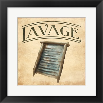 Framed Vintage Washboard Print
