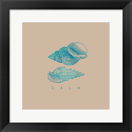 Framed Clam Shells on Sand Print