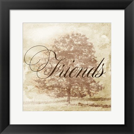 Framed Friends Tree Print