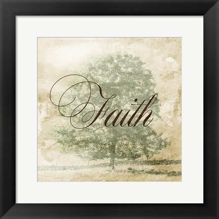 Framed Faith Tree Print