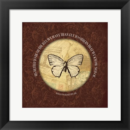 Framed William Butterfly Print