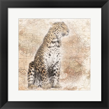 Framed African Animals - Leopard Print