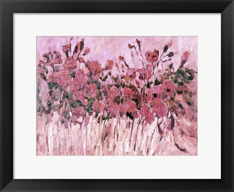 Framed Poppies in Pink Print