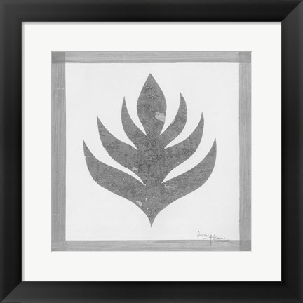 Framed Pewter Fire I Print