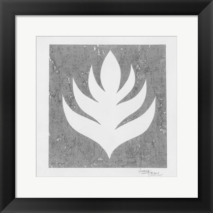 Framed Pewter Fire II Print
