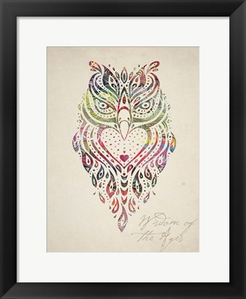 Framed Owl Set 01 Print