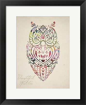 Framed Owl Set 02 Print
