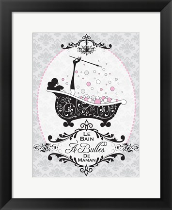 Framed Mommy's Bubble Bath 02 Print