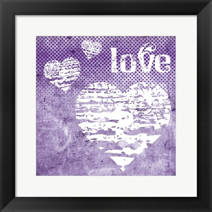 Framed Iris Love Print