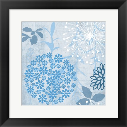 Framed Transitional Floral 1 Print