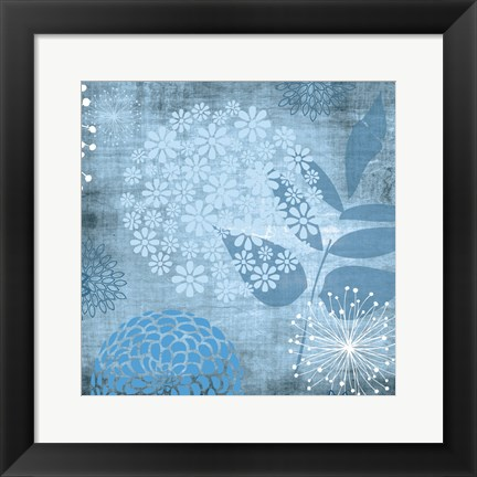 Framed Transitional Floral 5 Print