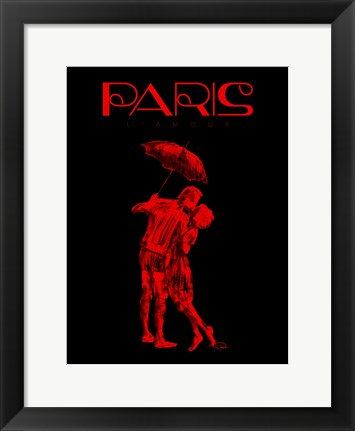 Framed Paris Magazine II Print