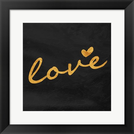 Framed Gold Love Print