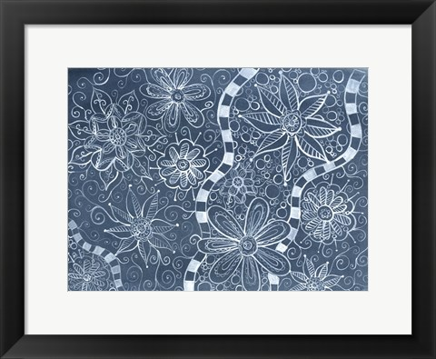 Framed Blooms in The Blue Print