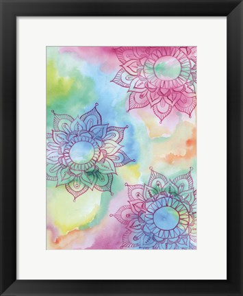 Framed Watercolor Blooms 1 Print