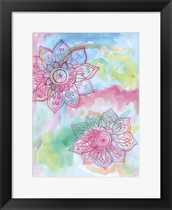 Framed Watercolor Blooms 2 Print