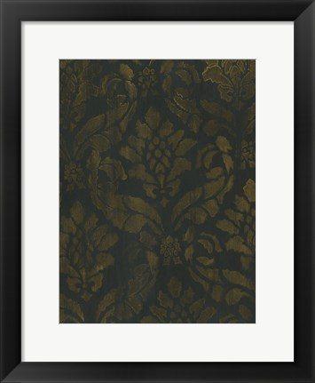 Framed Gold Damask Print