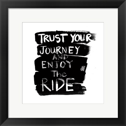 Framed Enjoy Your Ride Print