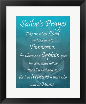 Framed Sailor's Prayer Print