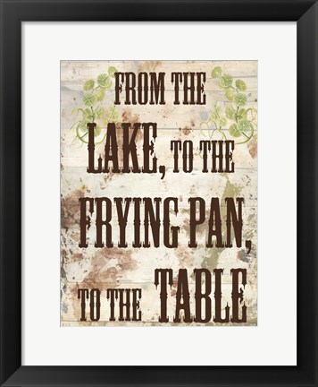 Framed Lake Dinner Print