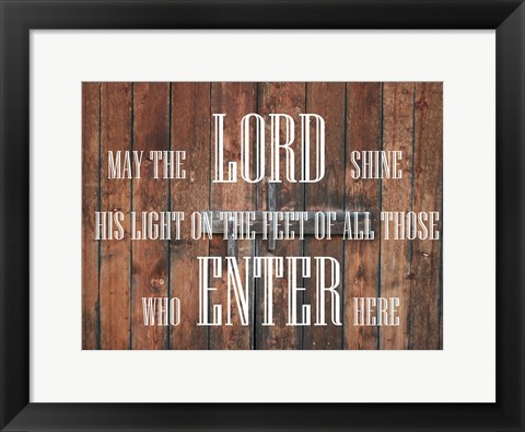 Framed Cabin Prayer Print