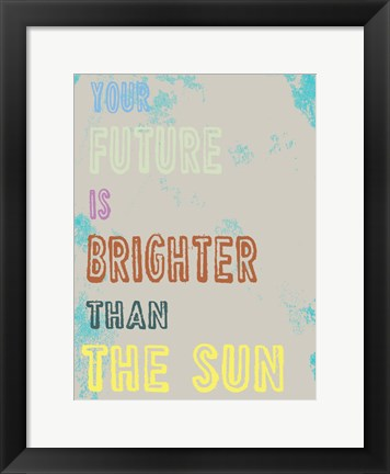 Framed Bright Future Print