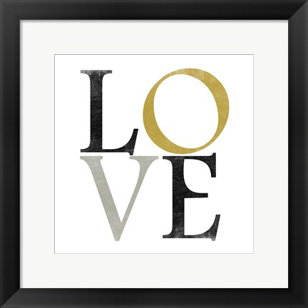 Framed Color Typo Love Print