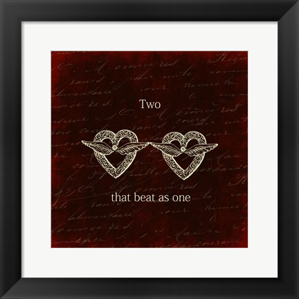 Framed Two Hearts Print