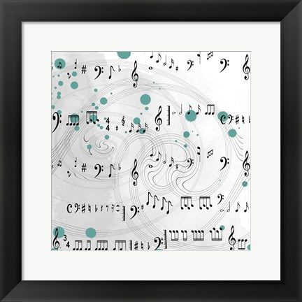 Framed Music With A Difference Print