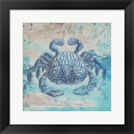 Framed Sea Crab Print