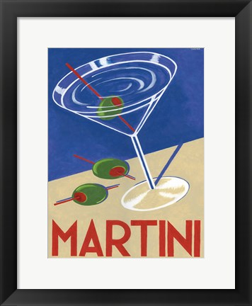 Framed Retro Martini Print