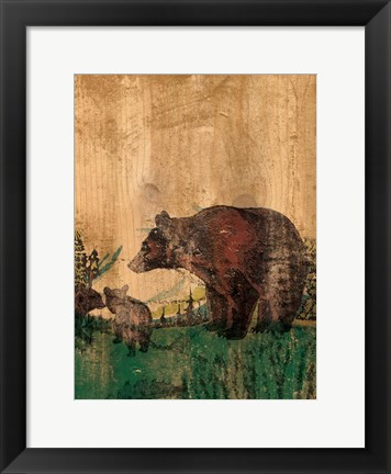 Framed Hunting 1 Print