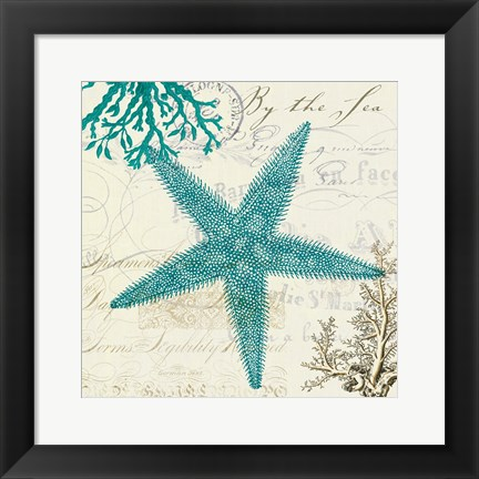 Framed Coastal Teal Print