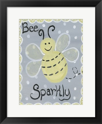Framed Bee Sparkly Print