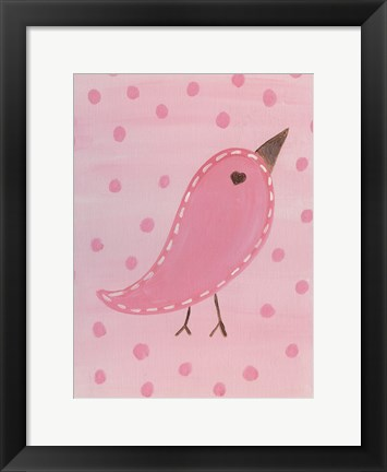Framed Heart Chick 1 Print