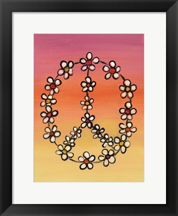 Framed Daisy Peace 1 Print