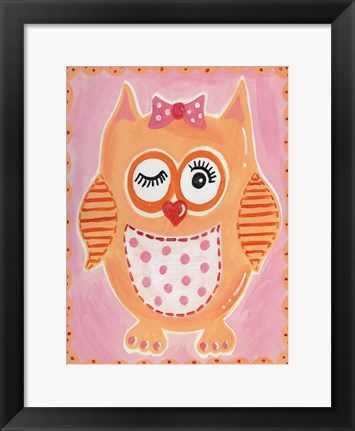 Framed Orange Owl Print
