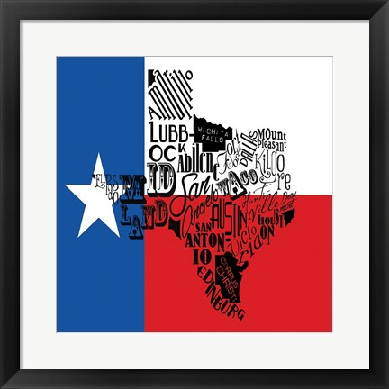 Framed Texas Flag Print