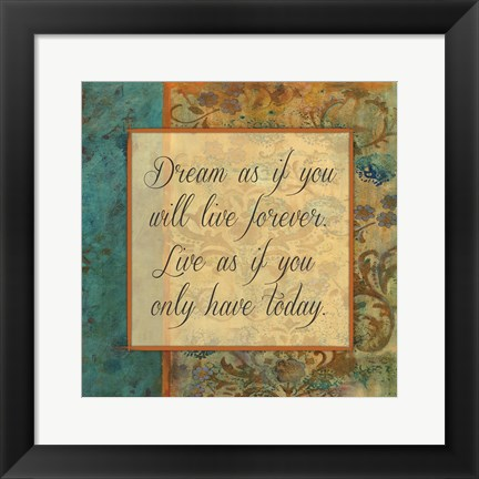 Framed Juxta Beach Inspirational Print