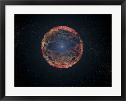 Framed Artist's Impression of Supernova 1993J Print
