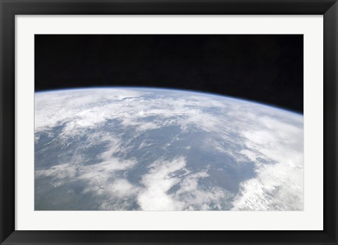 Framed View of Planet Earth from Space Print