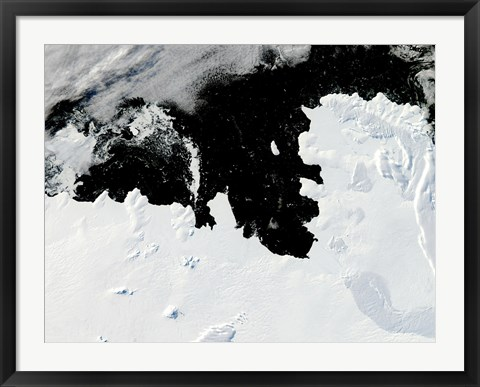 Framed Pine Island Bay in West Antarctica Print