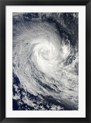 Framed Tropical Cyclone Imani Swirls over the Southern Indian Ocean Print